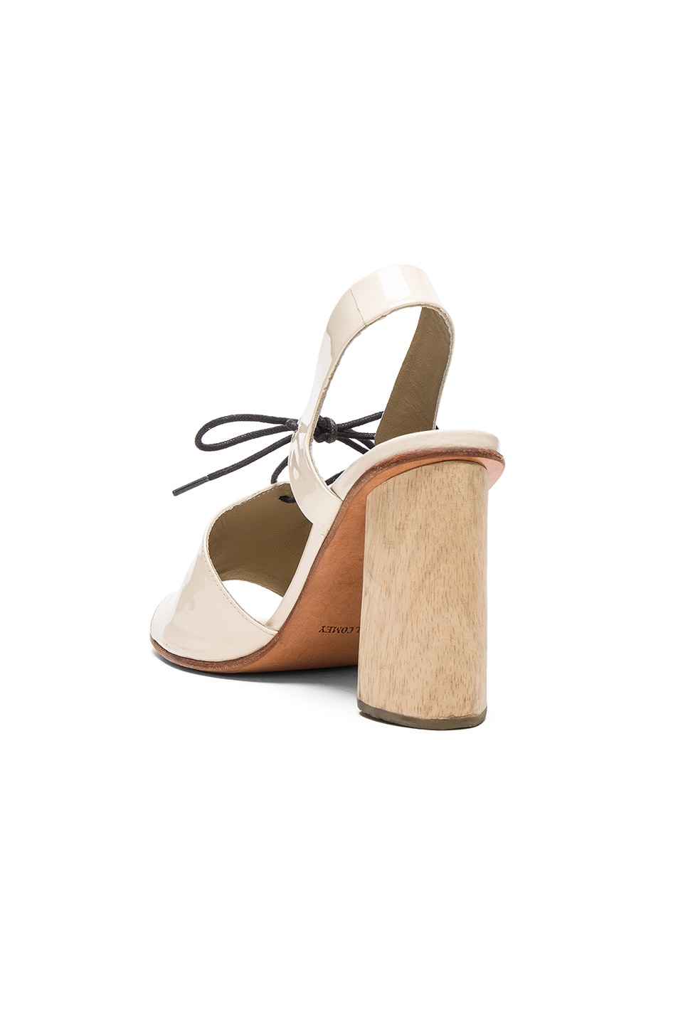 Image 3 of Rachel Comey Patent Leather Melrose Heels in Creamsicle Patent