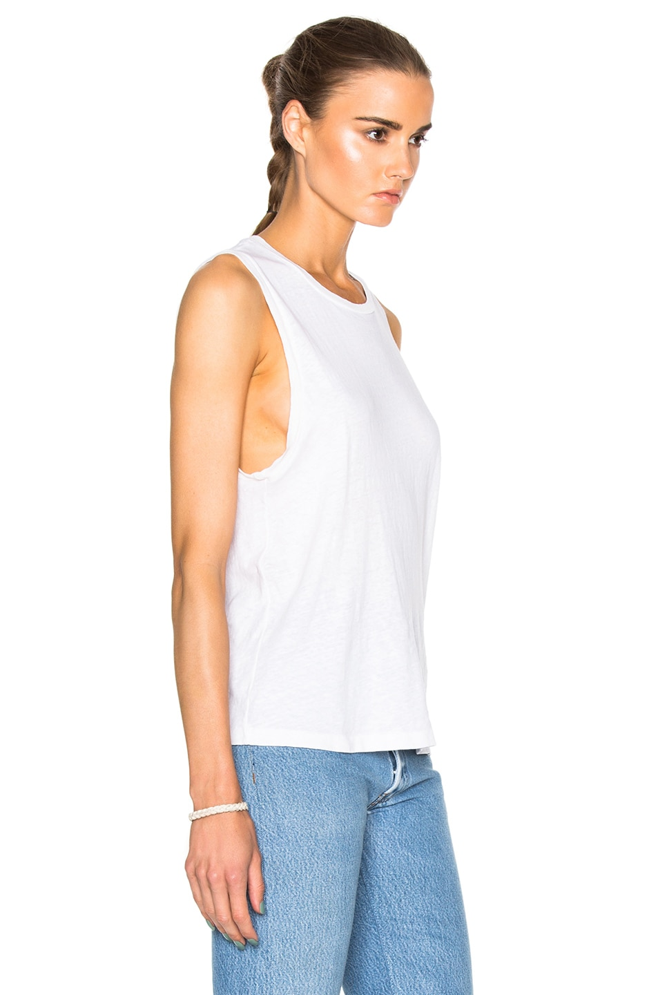 Image 3 of RE/DONE Muscle Tee in Vintage White