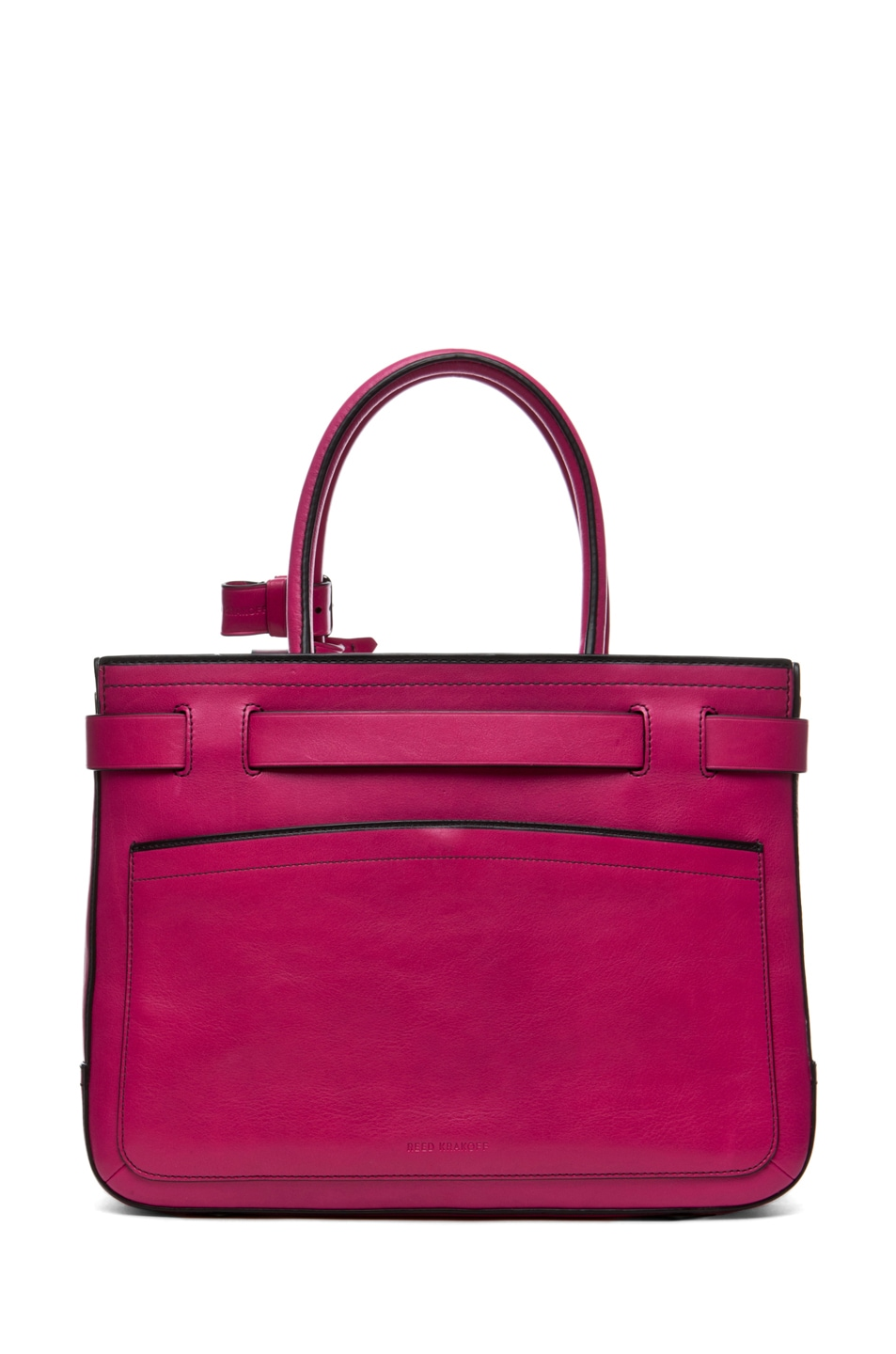 Image 2 of Reed Krakoff Outline Boxer in Fuchsia