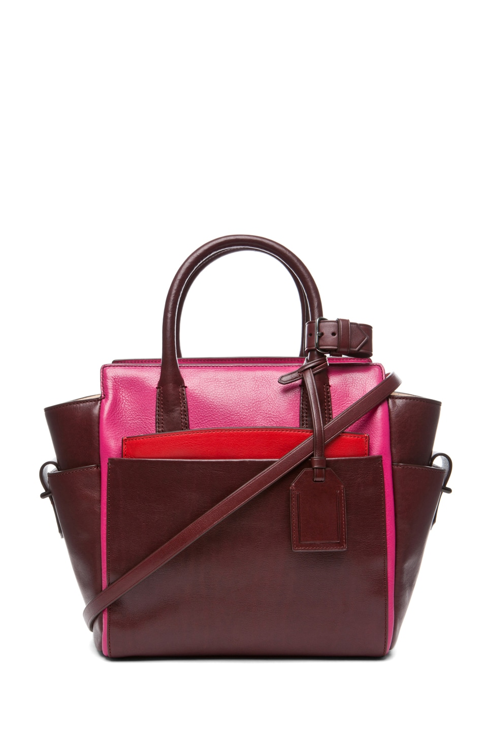Image 1 of Reed Krakoff Mini Atlantique in Crimson Multicolor