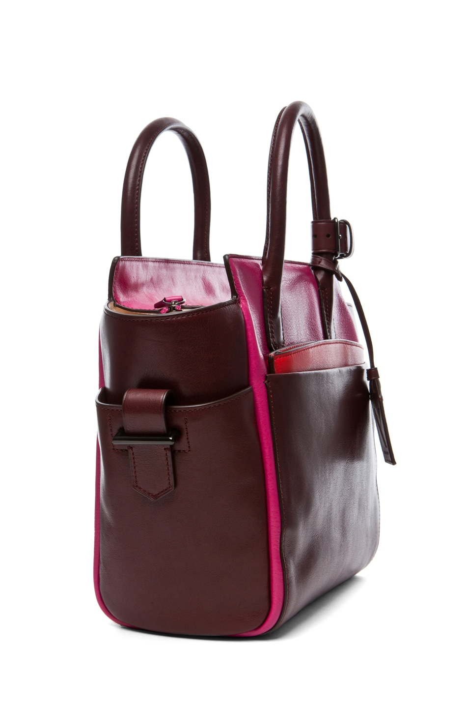 Image 3 of Reed Krakoff Mini Atlantique in Crimson Multicolor