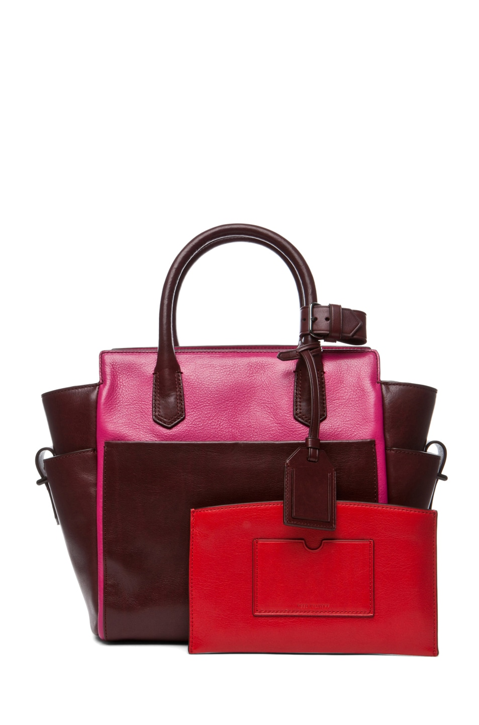 Image 5 of Reed Krakoff Mini Atlantique in Crimson Multicolor