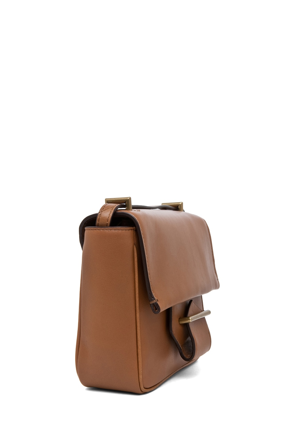 Image 3 of Reed Krakoff Standard Mini Shoulder Bag in Saddle