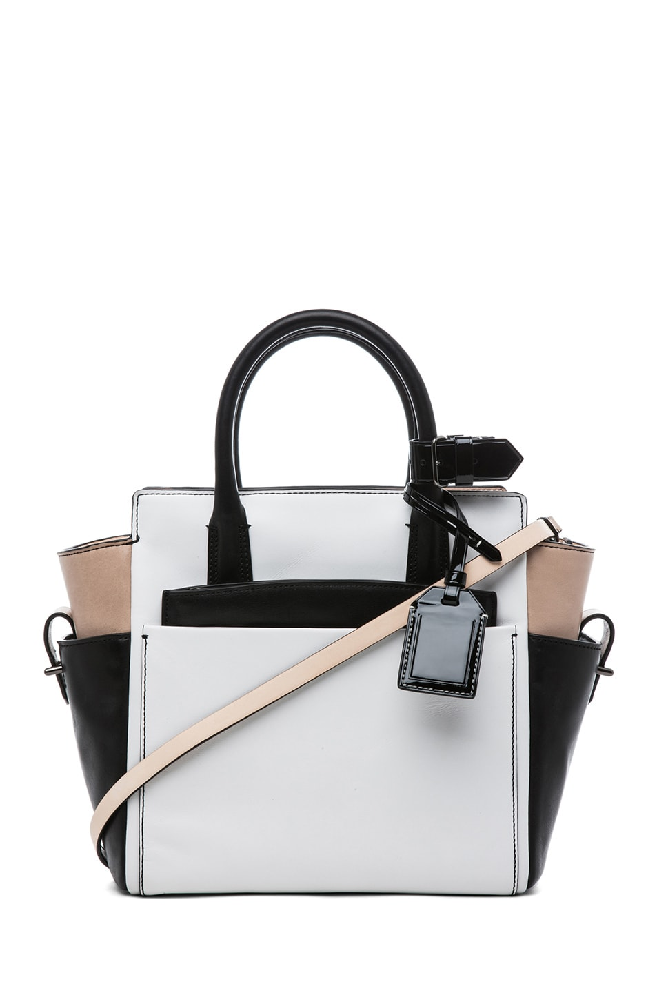 Image 1 of Reed Krakoff Patent Mini Atlantique in Nude Black