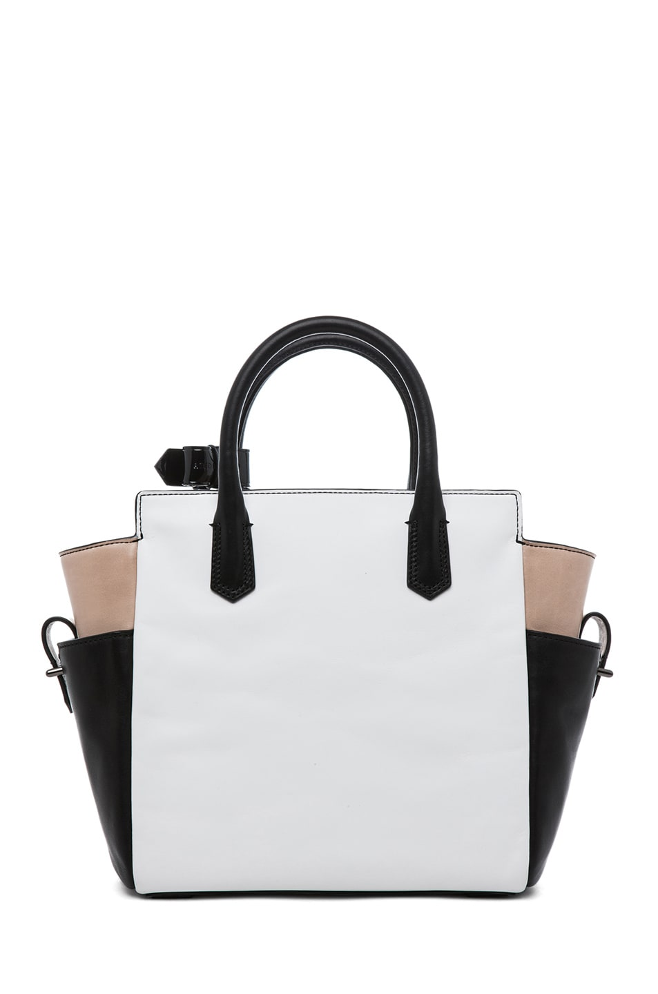 Image 2 of Reed Krakoff Patent Mini Atlantique in Nude Black