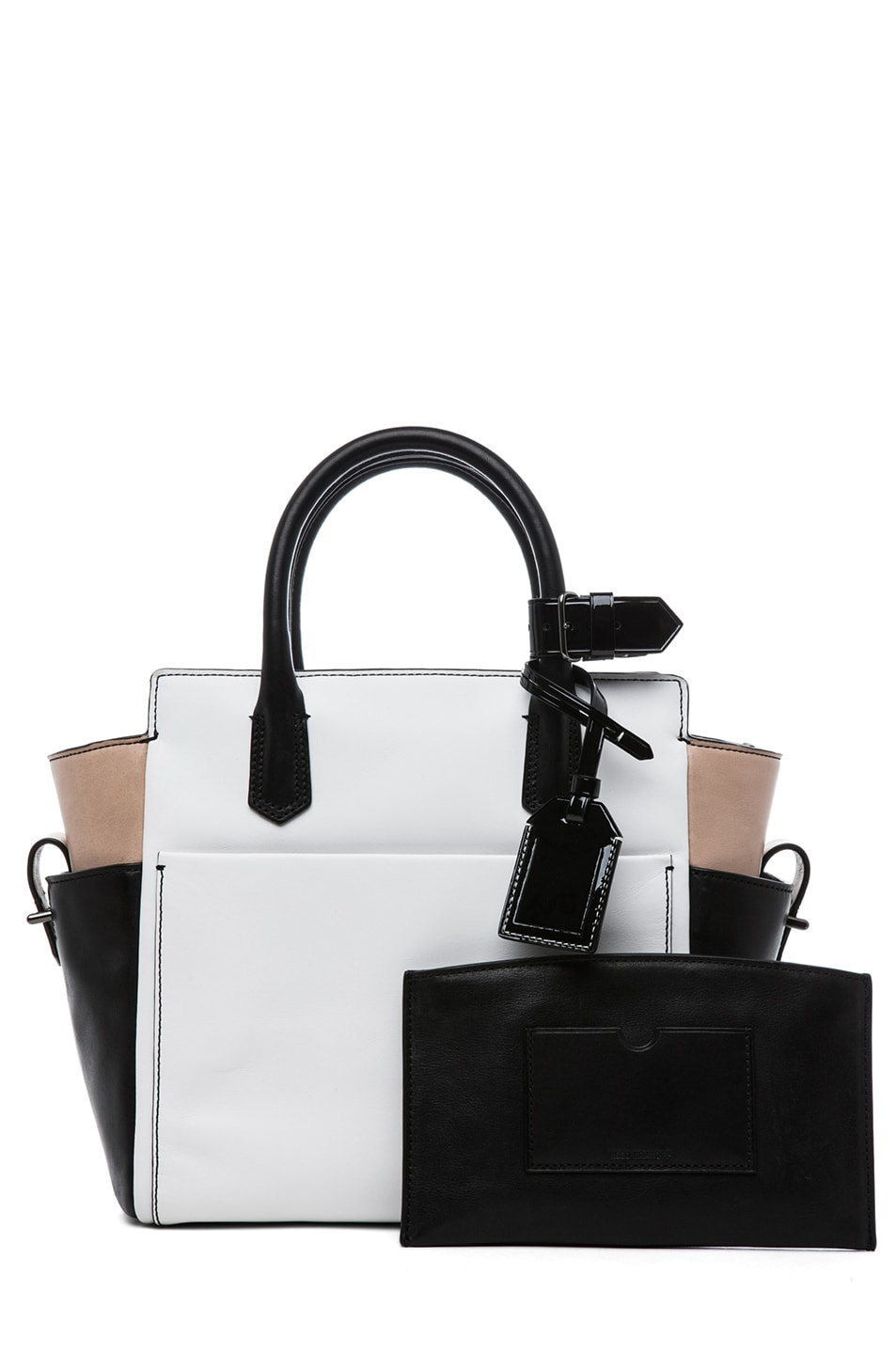 Image 4 of Reed Krakoff Patent Mini Atlantique in Nude Black