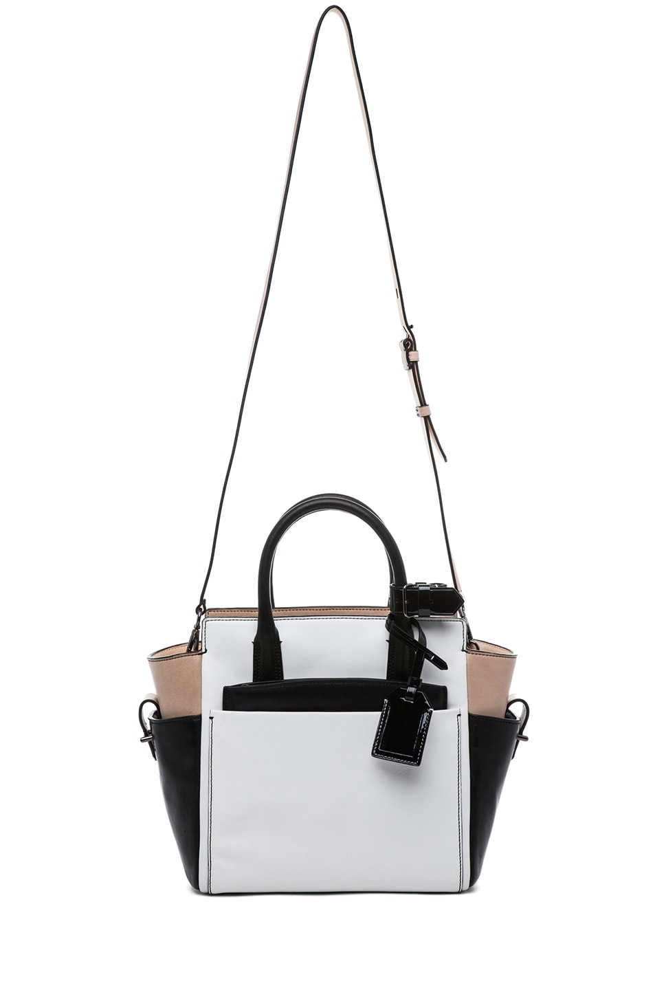 Image 8 of Reed Krakoff Patent Mini Atlantique in Nude Black