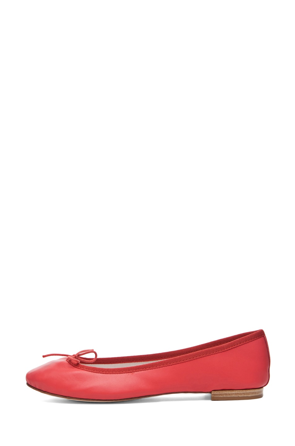 Image 1 of Repetto Lambskin Flat in Coral