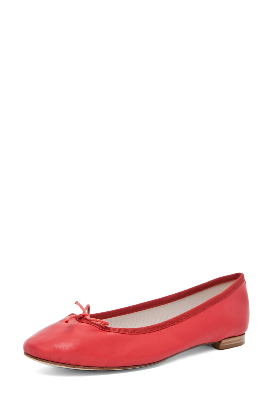 Image 2 of Repetto Lambskin Flat in Coral