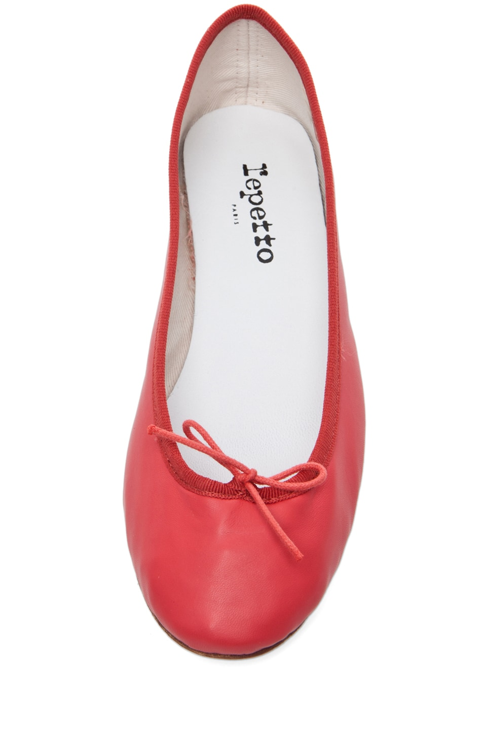 Image 4 of Repetto Lambskin Flat in Coral
