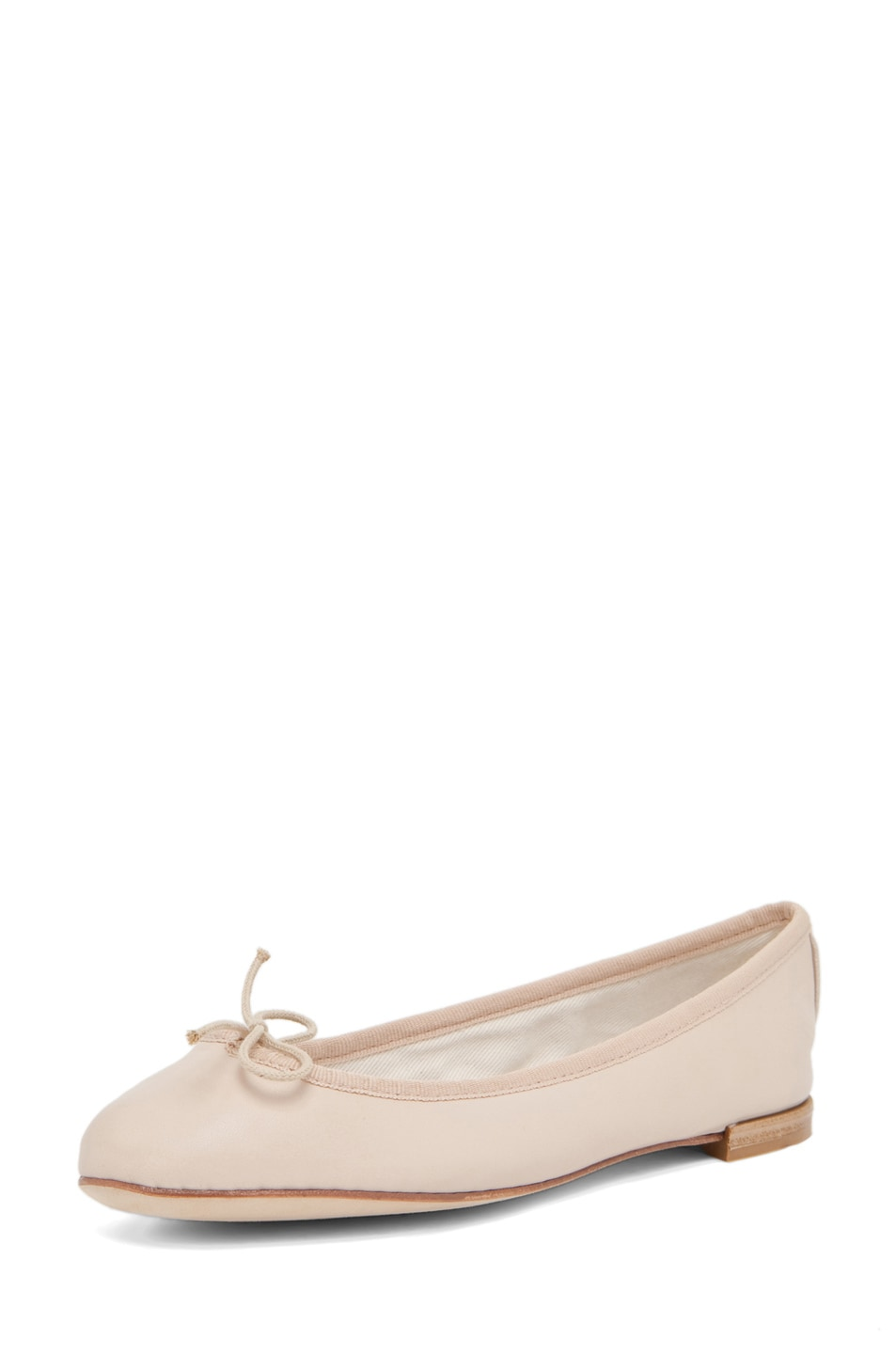 Image 2 of Repetto Lambskin Flat in Nude