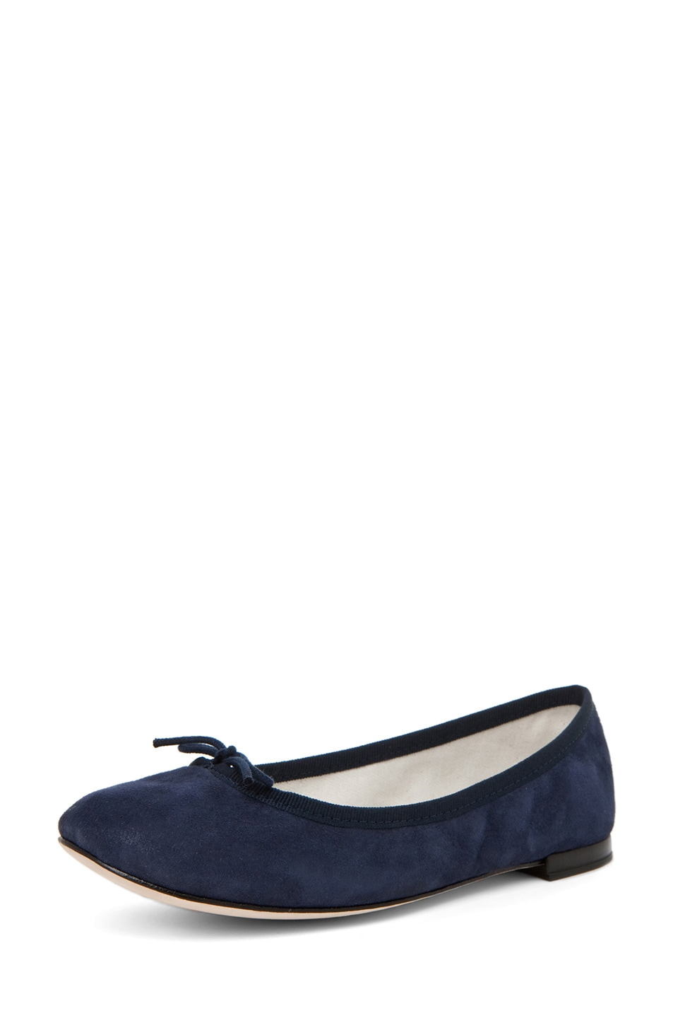 Image 2 of Repetto Suede Flat in Navy