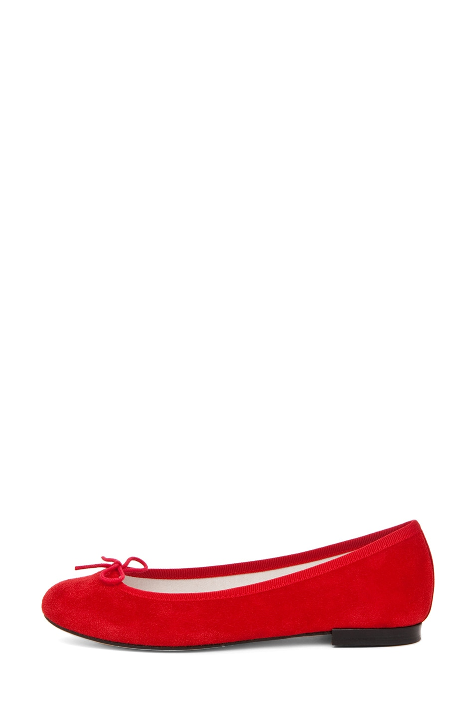 Image 1 of Repetto Suede Flat in Red
