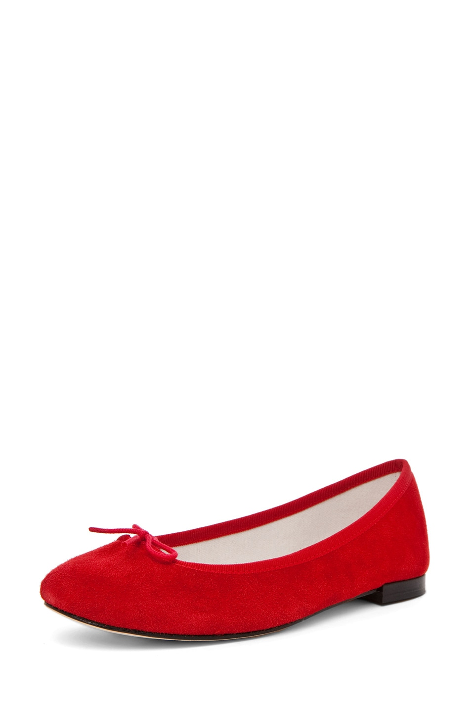 Image 2 of Repetto Suede Flat in Red