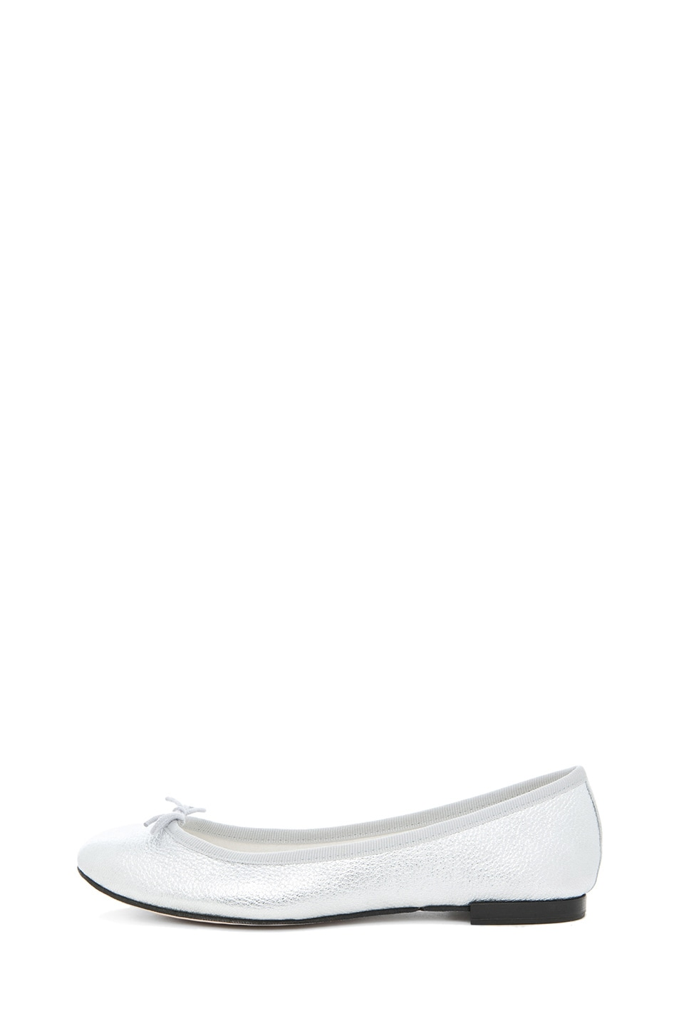 Image 1 of Repetto Leather Flat in Distressed Goatskin Silver