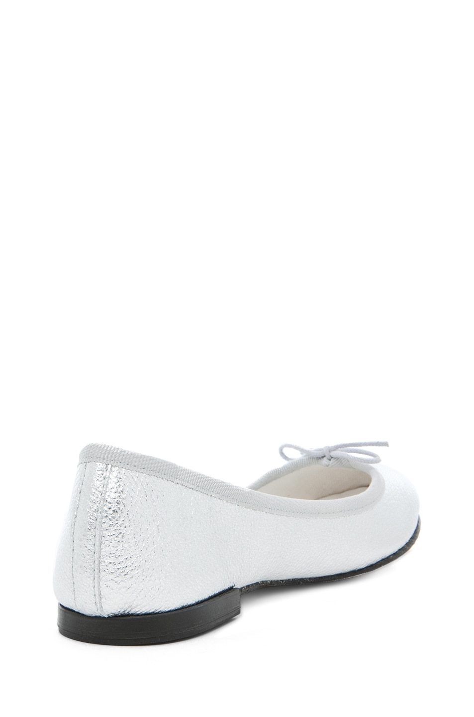 Image 3 of Repetto Leather Flat in Distressed Goatskin Silver
