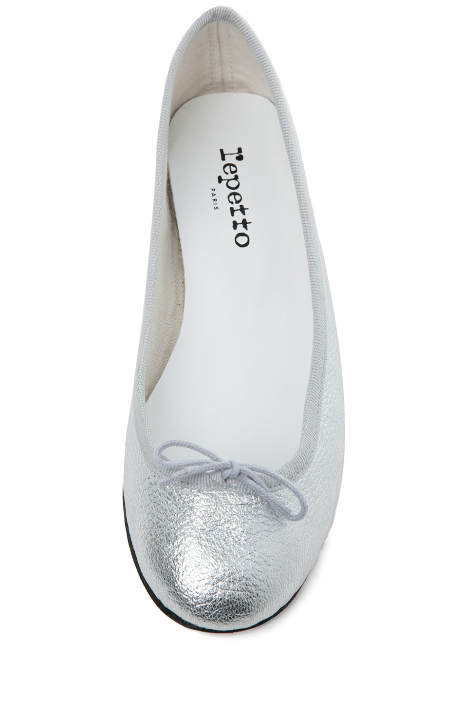 Image 4 of Repetto Leather Flat in Distressed Goatskin Silver