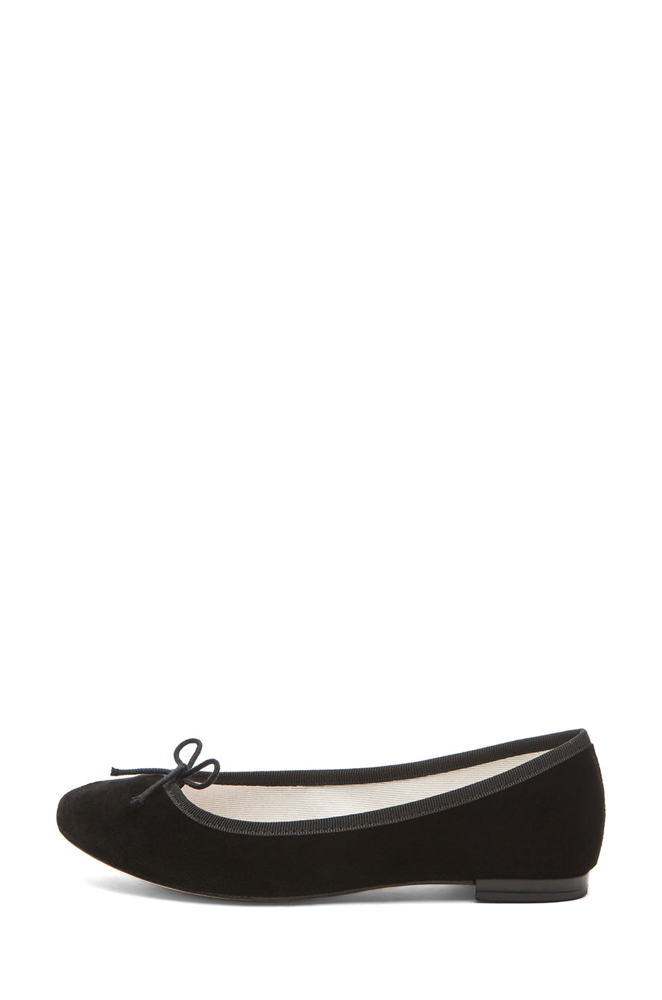 Image 1 of Repetto Velour Flats in Black
