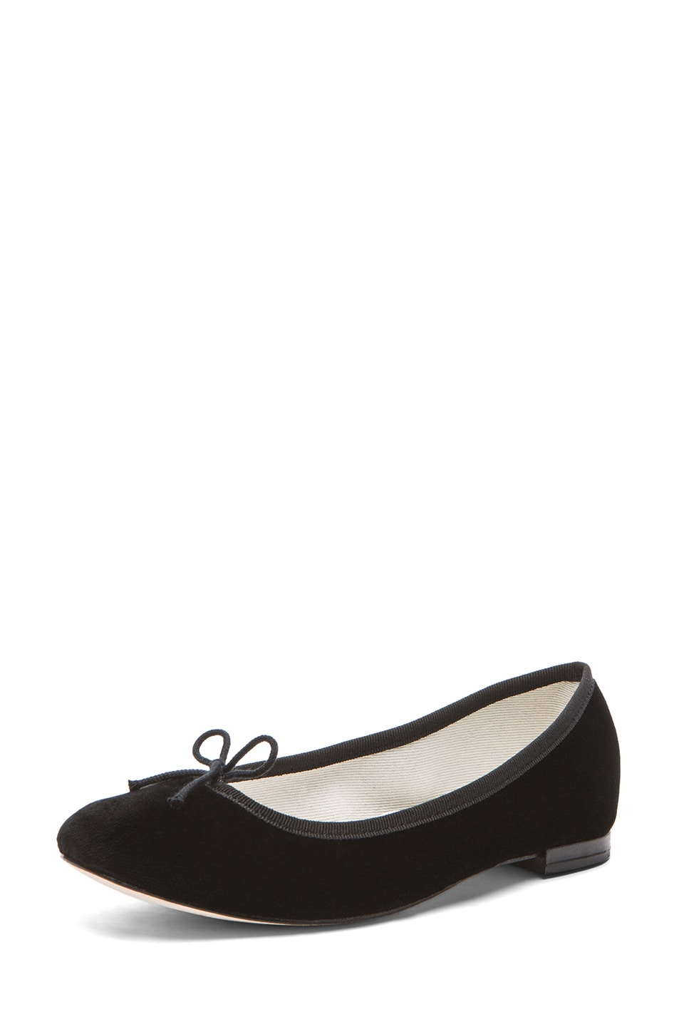 Image 2 of Repetto Velour Flats in Black
