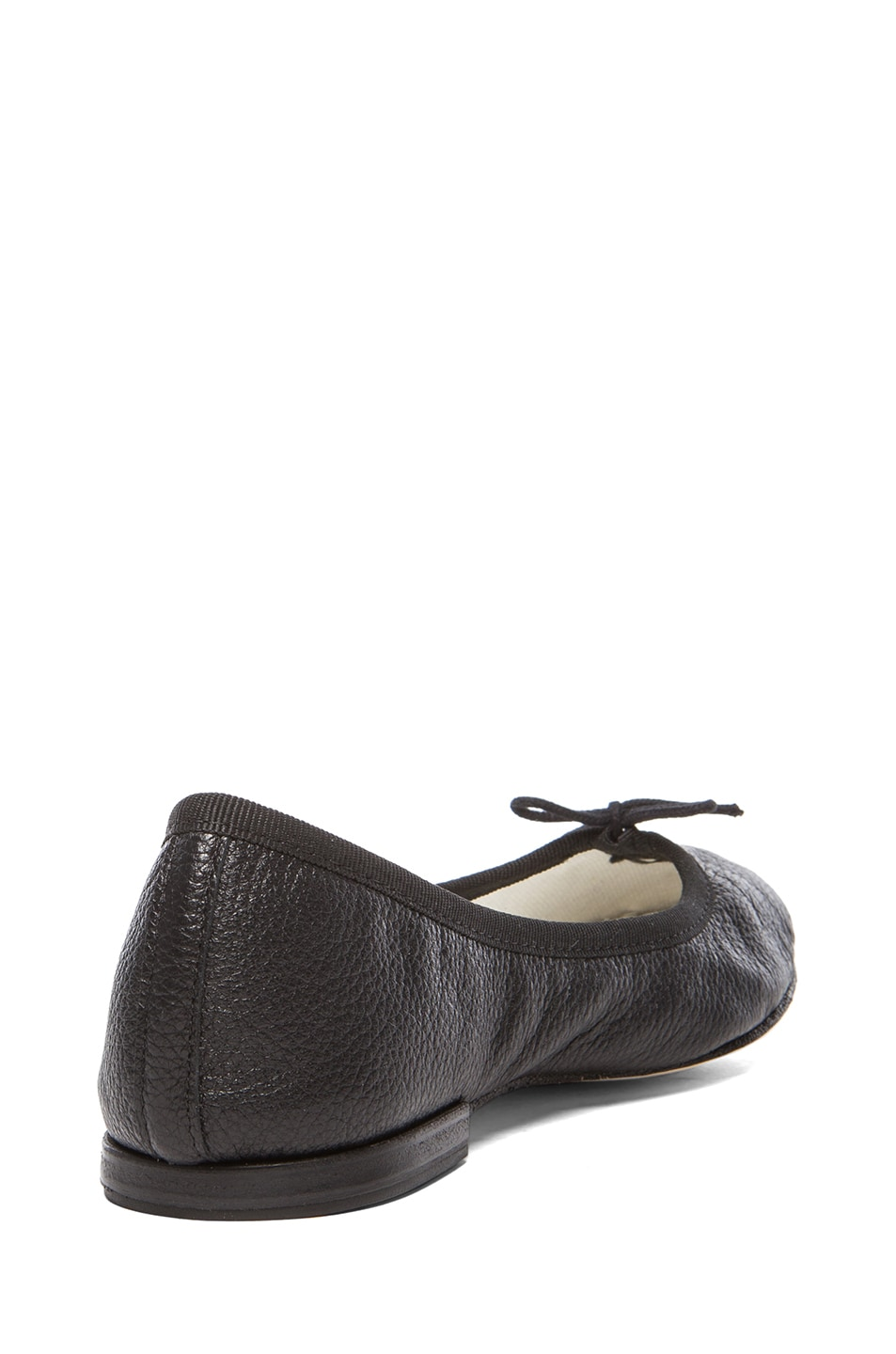 Image 3 of Repetto Goatskin Leather Flats in Black