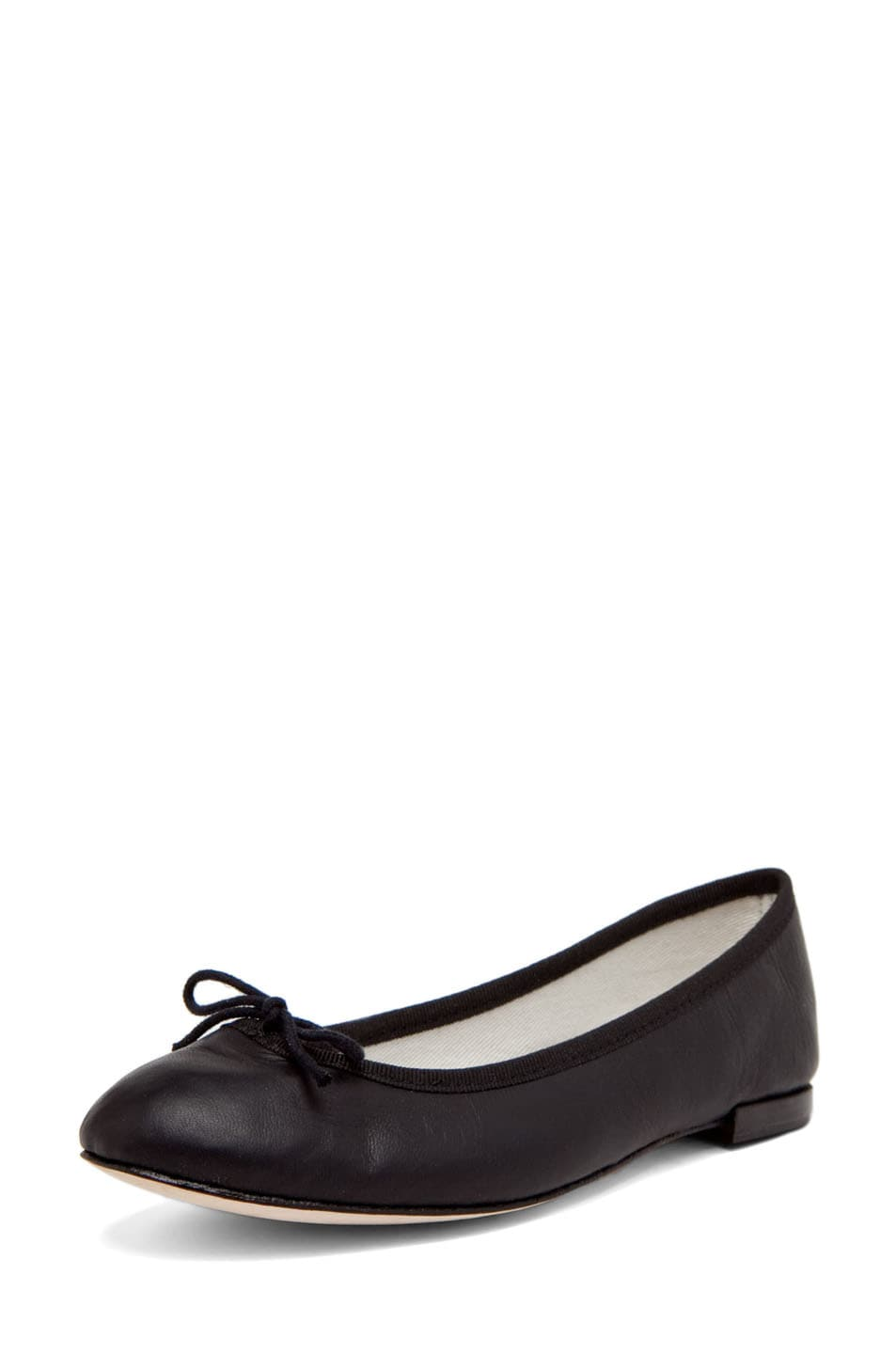 Image 2 of Repetto Calfskin Leather Flats in Black