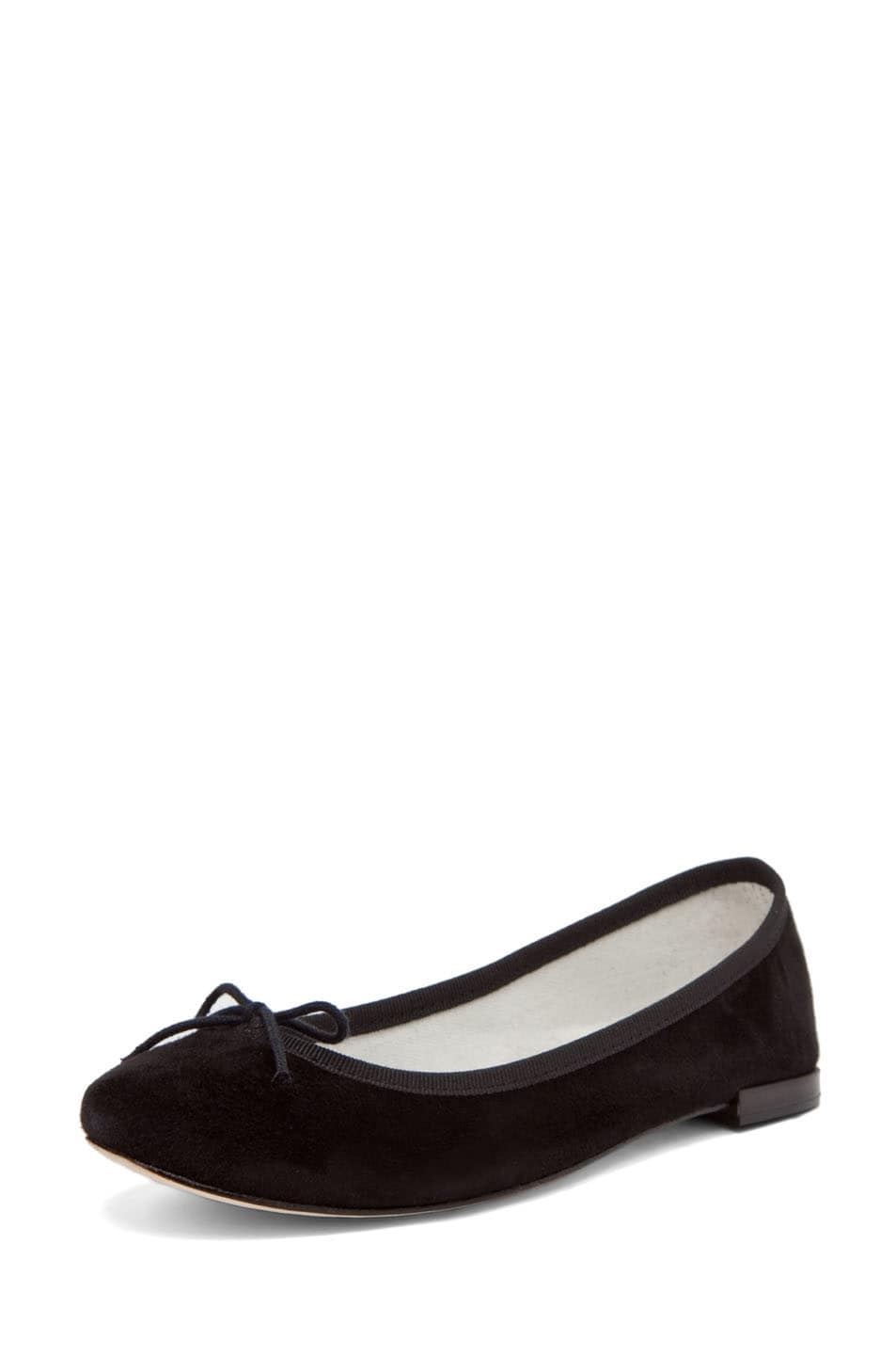 Image 2 of Repetto Suede Flat in Black