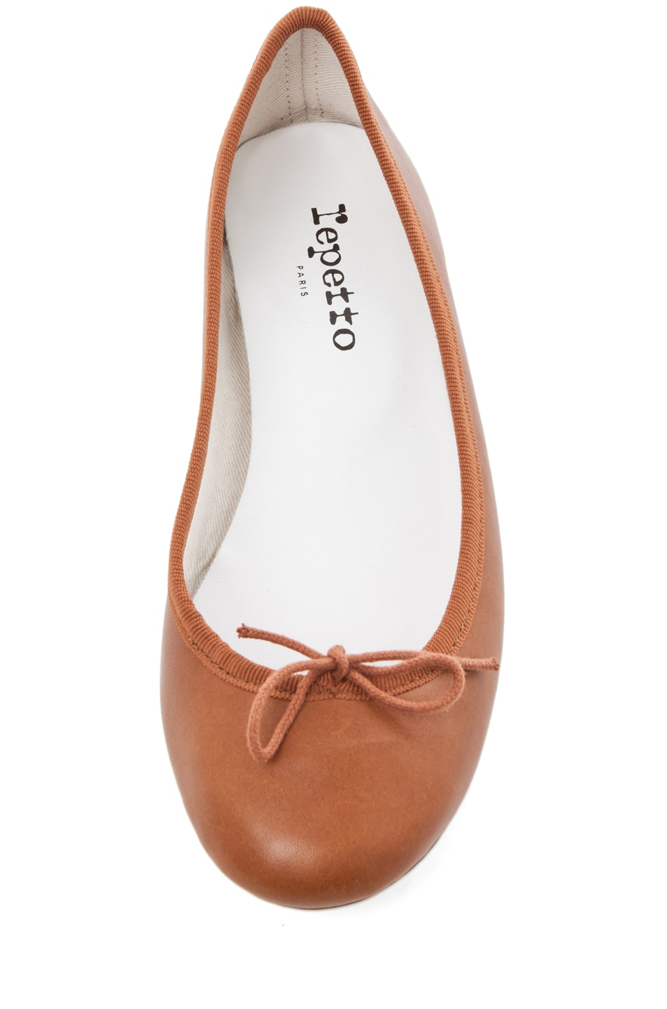 Image 4 of Repetto Leather Flat in Cognac