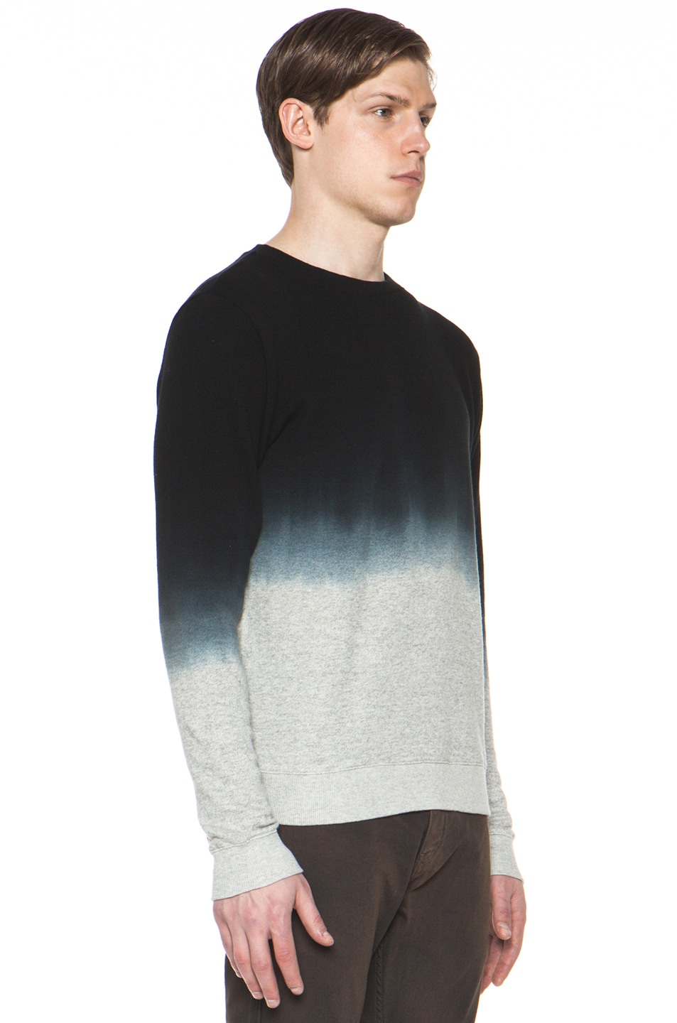 Image 3 of Robert Geller Dip Dyed Sweatshirt in Charcoal