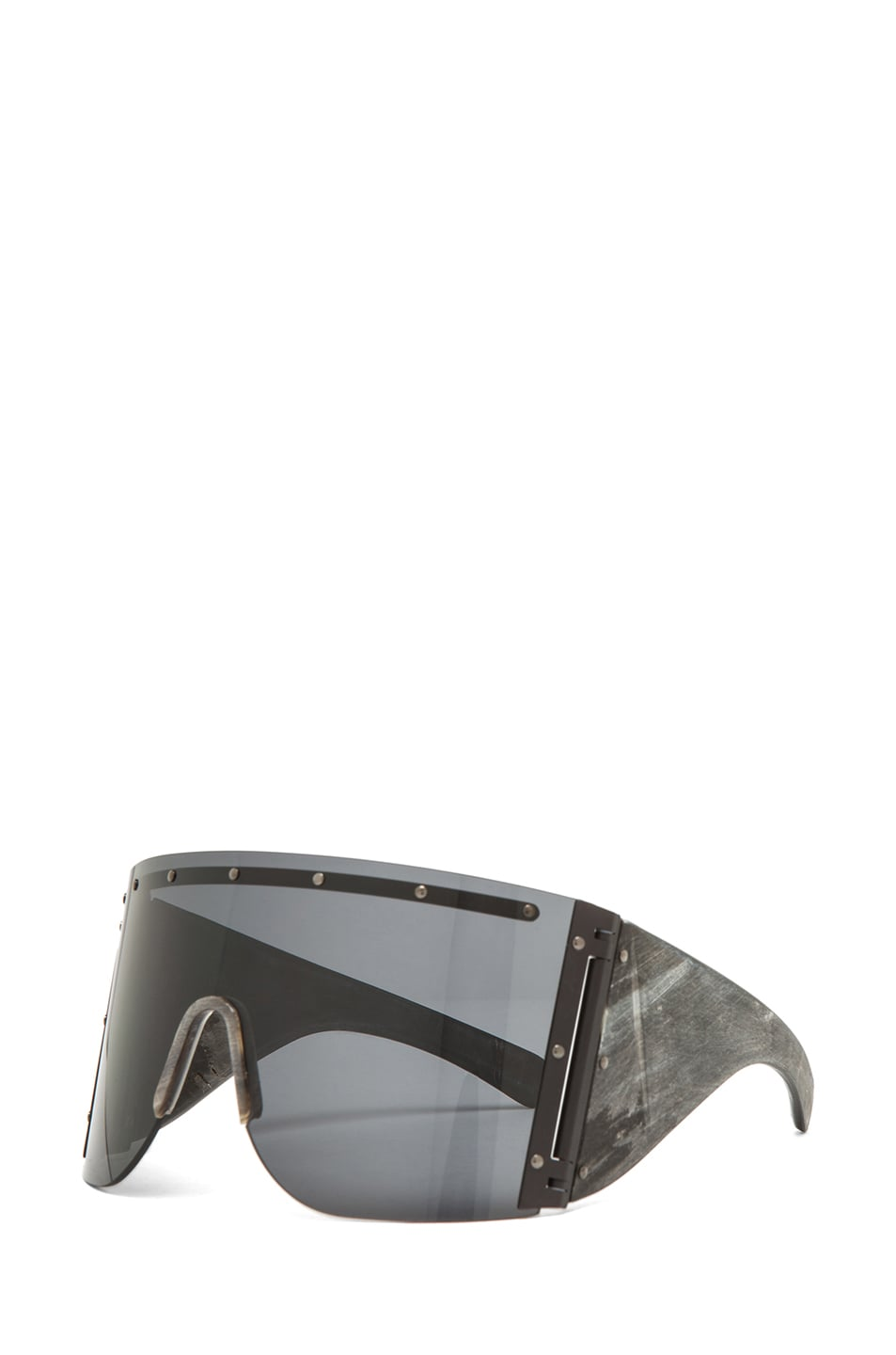 Image 2 of Rick Owens Sunglasses in Black Raw