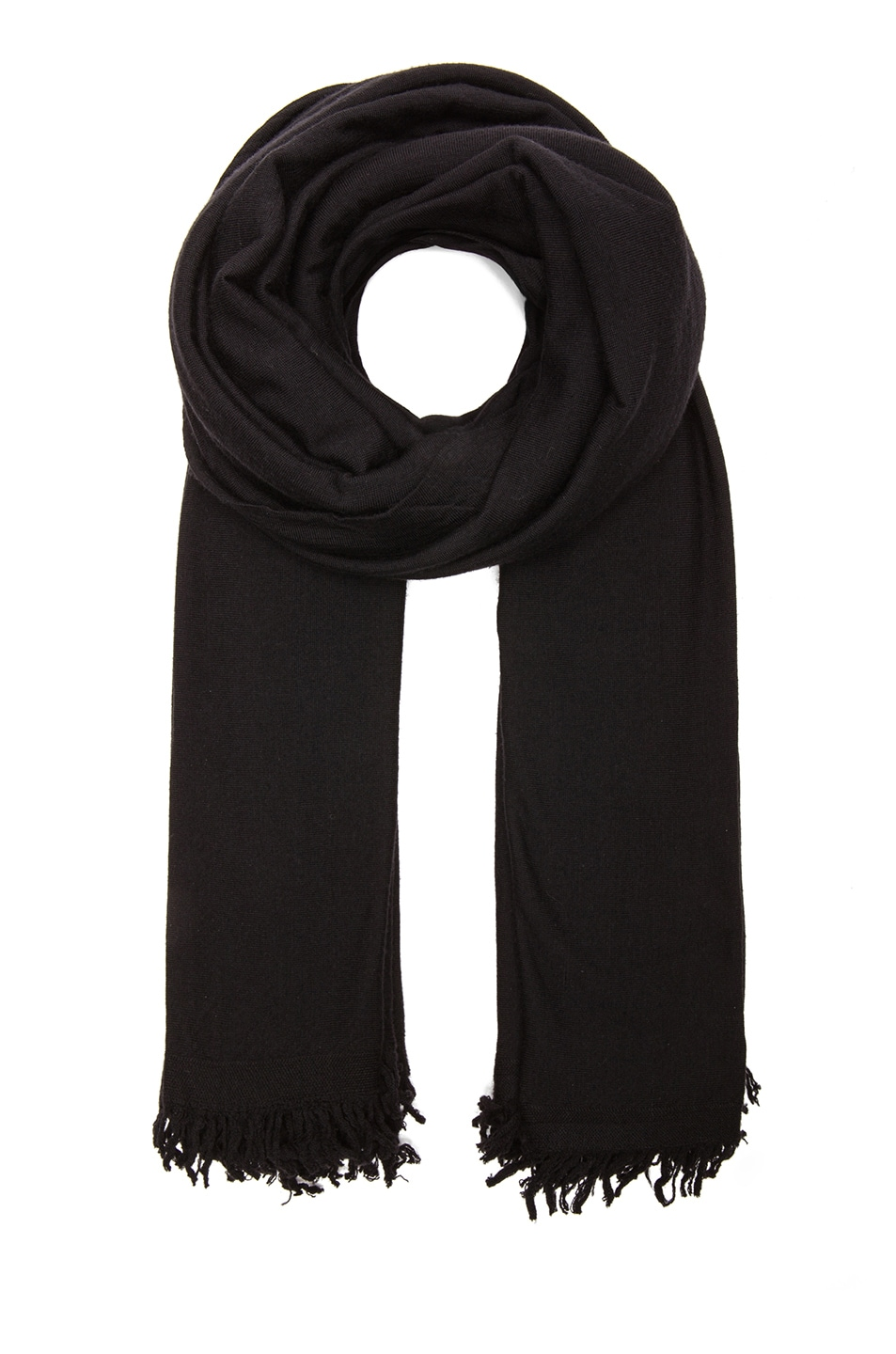 Image 1 of Rick Owens Merino Wool Blanket Scarf in Black