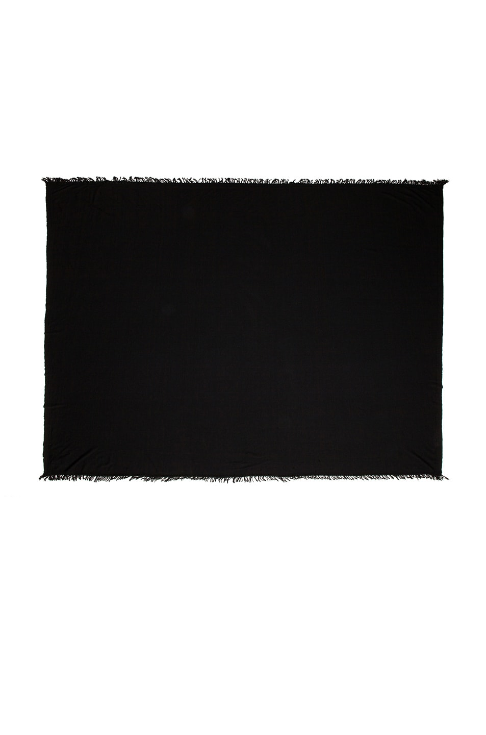 Image 2 of Rick Owens Merino Wool Blanket Scarf in Black