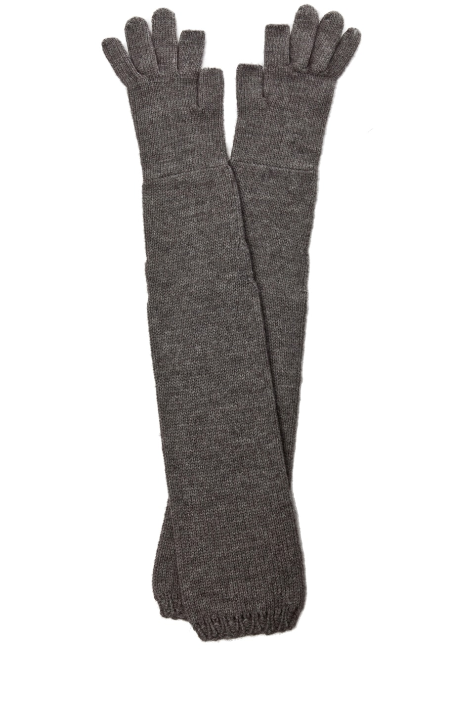 Image 1 of Rick Owens Ala Gloves in Light Grey