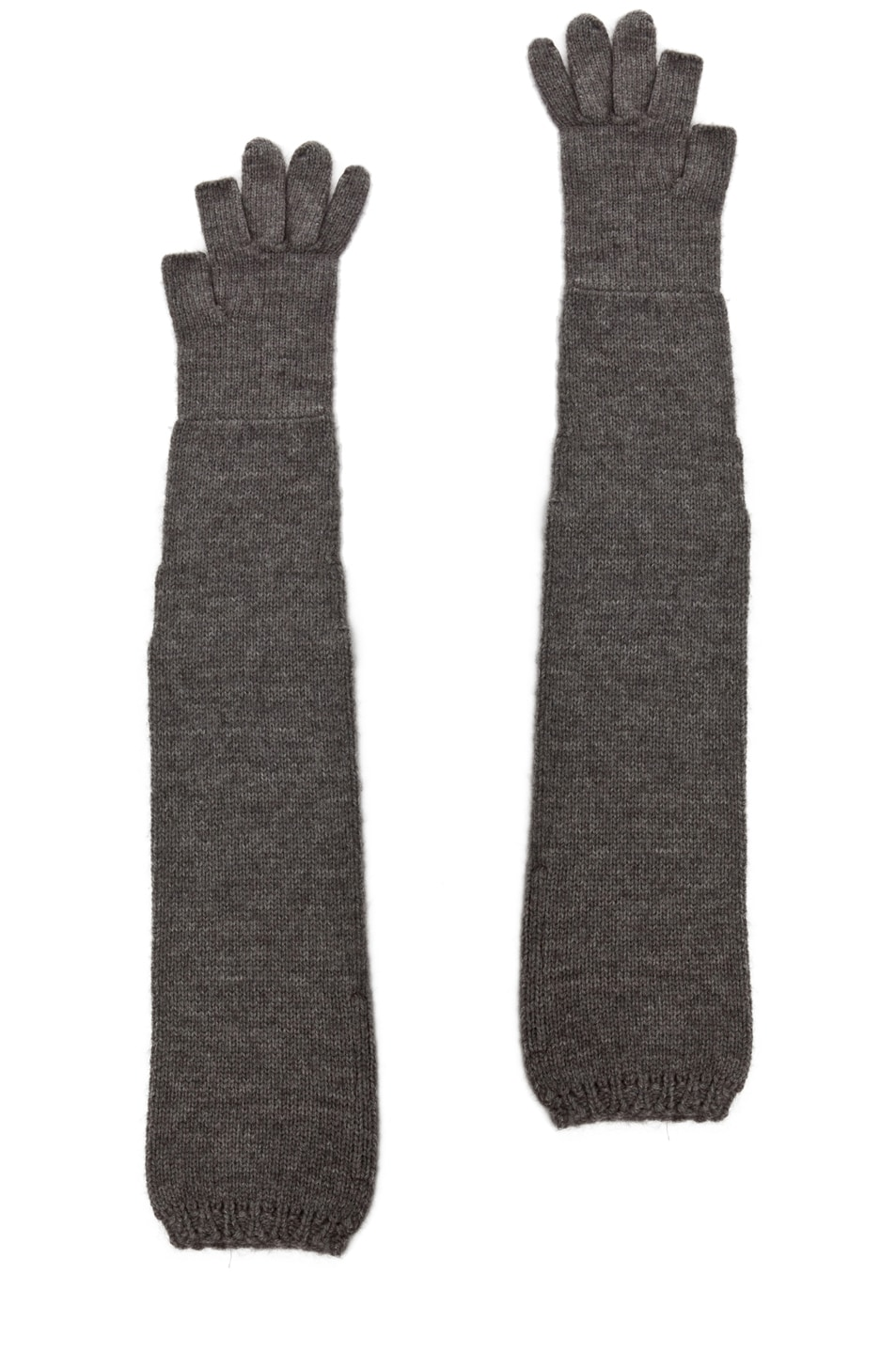 Image 2 of Rick Owens Ala Gloves in Light Grey