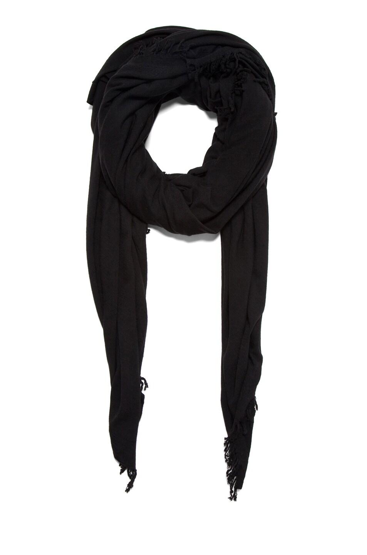 Image 1 of Rick Owens Blanket Scarf in Black