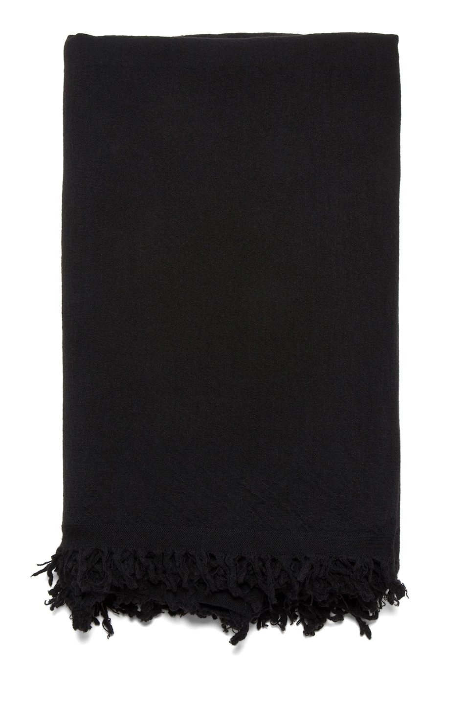 Image 2 of Rick Owens Blanket Scarf in Black