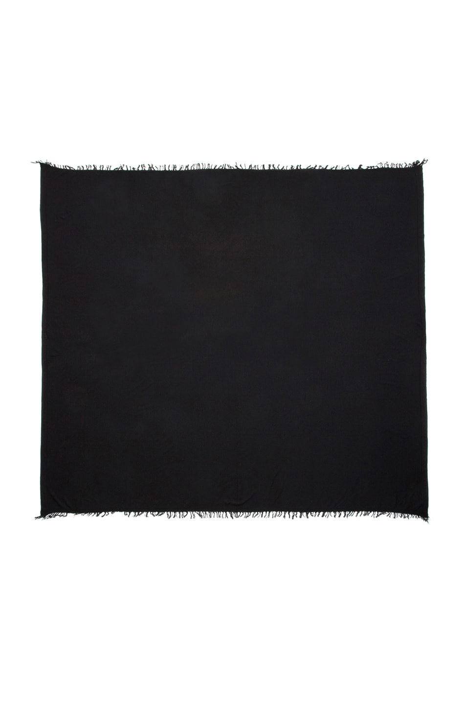 Image 3 of Rick Owens Blanket Scarf in Black