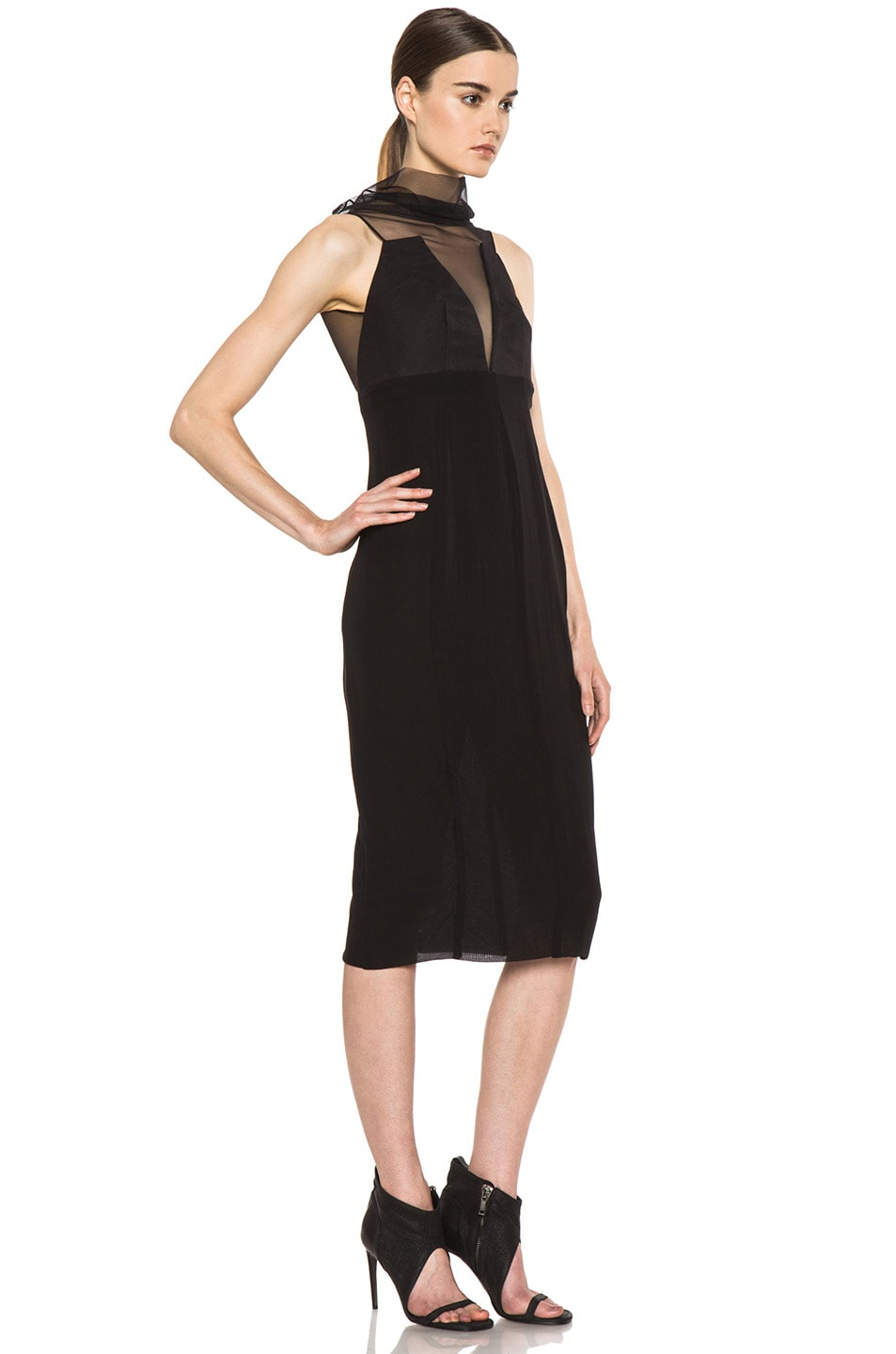 Image 3 of Rick Owens Prong RUNWAY Dress in Black