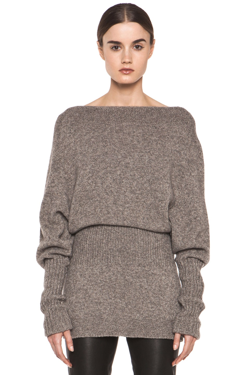 Image 1 of Rick Owens Dafne Long Sleeve Sweater in Light Grey