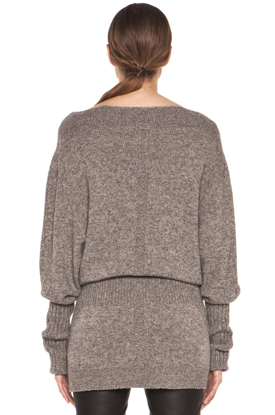 Image 4 of Rick Owens Dafne Long Sleeve Sweater in Light Grey