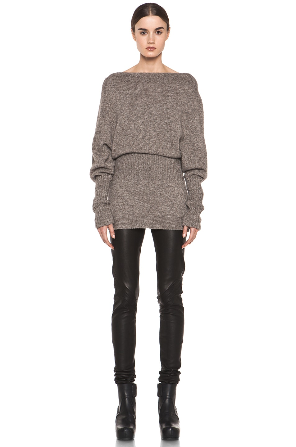Image 5 of Rick Owens Dafne Long Sleeve Sweater in Light Grey