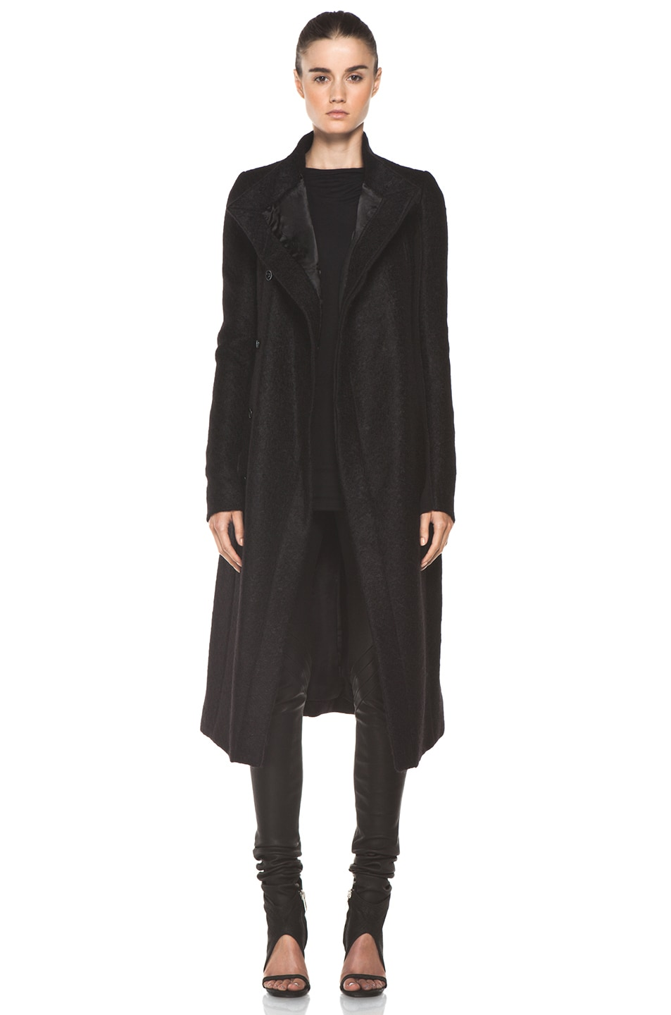 Image 1 of Rick Owens Eileen Coat in Black