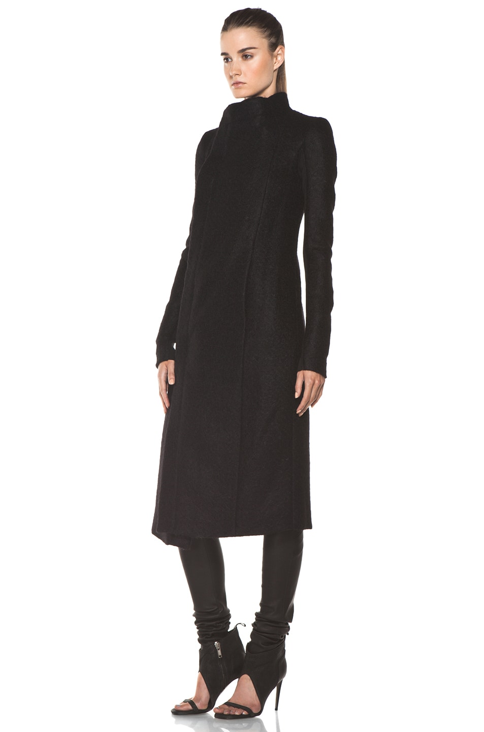 Image 3 of Rick Owens Eileen Coat in Black