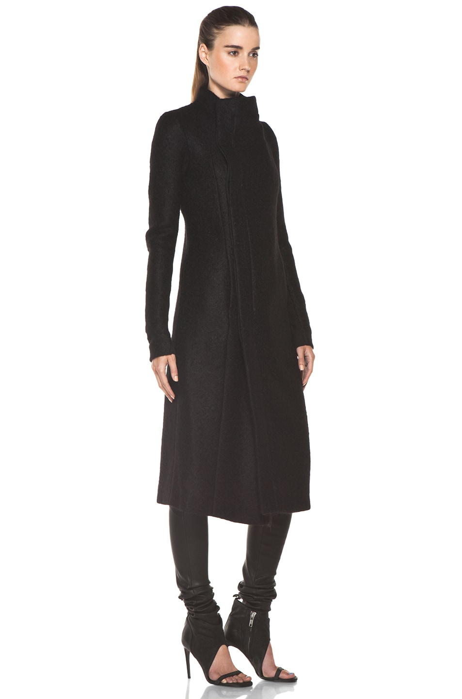 Image 4 of Rick Owens Eileen Coat in Black