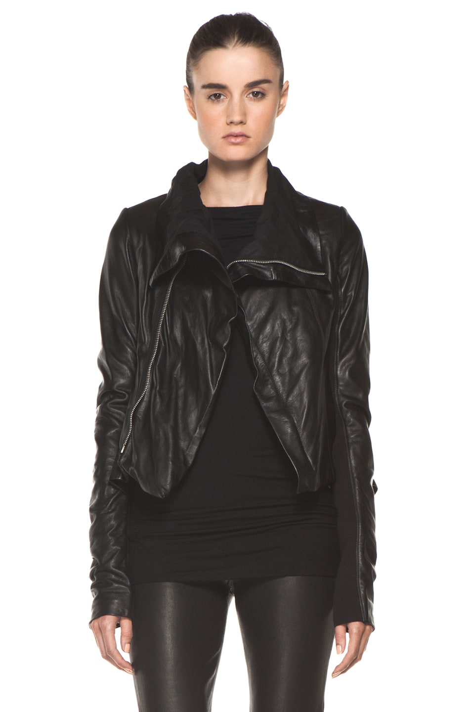Image 1 of Rick Owens Naska Biker Jacket in Black