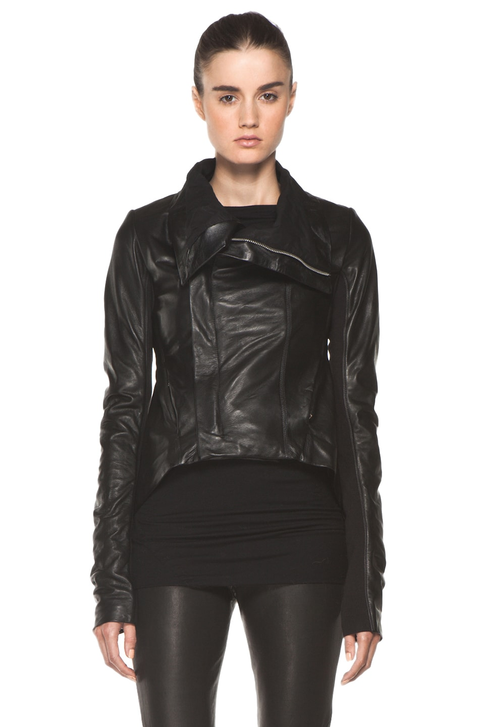 Image 2 of Rick Owens Naska Biker Jacket in Black