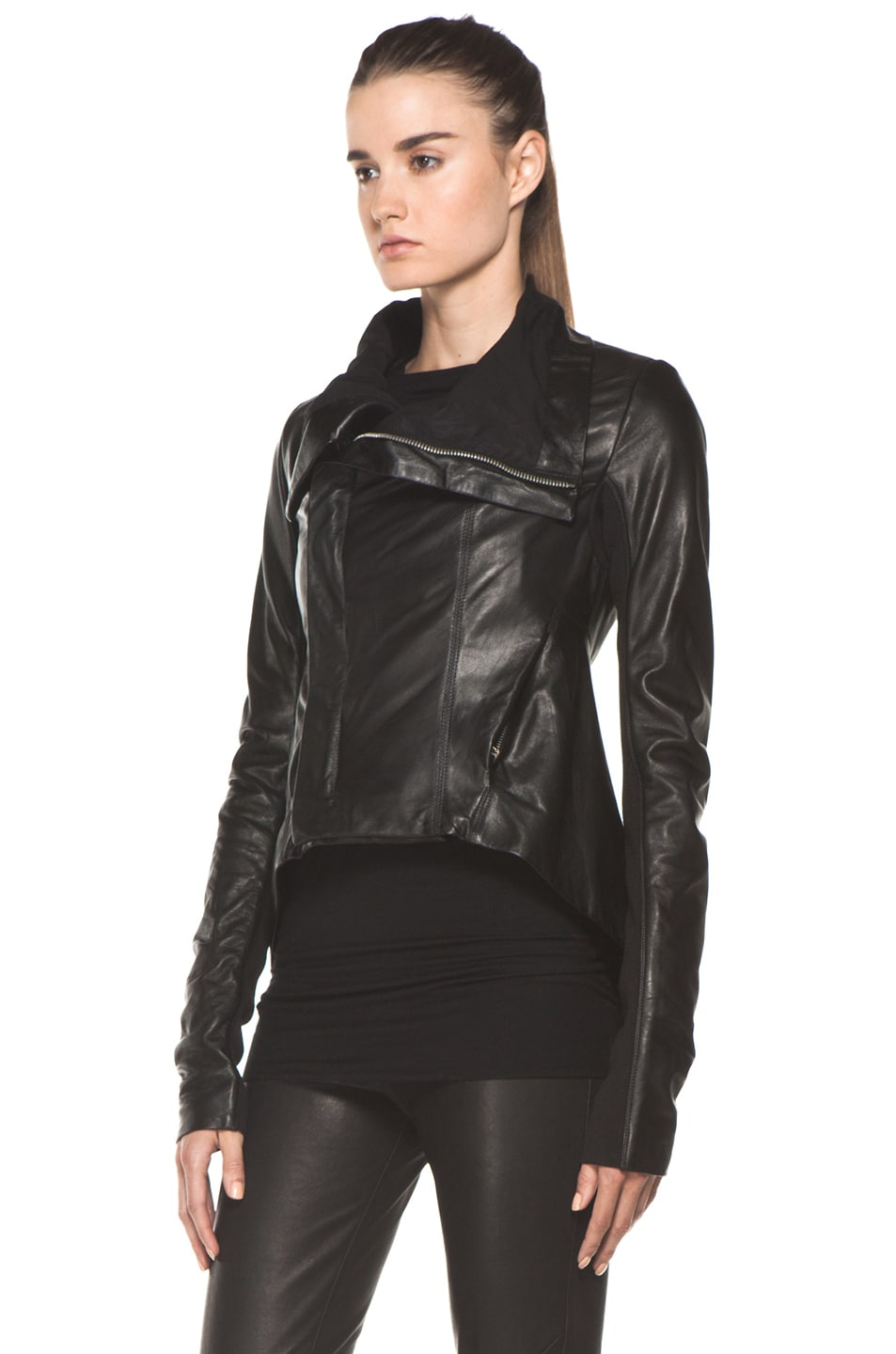 Image 3 of Rick Owens Naska Biker Jacket in Black