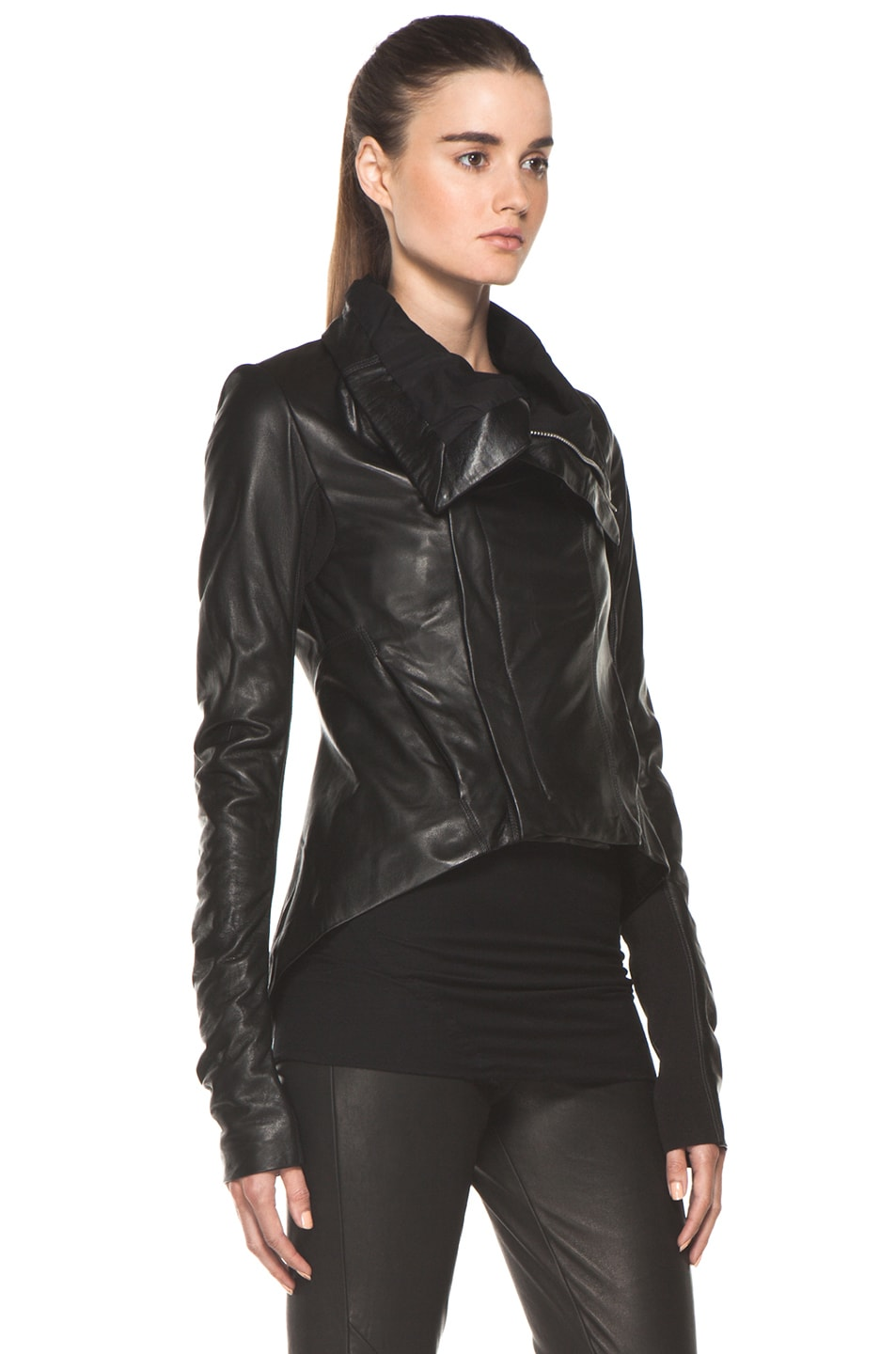 Image 4 of Rick Owens Naska Biker Jacket in Black
