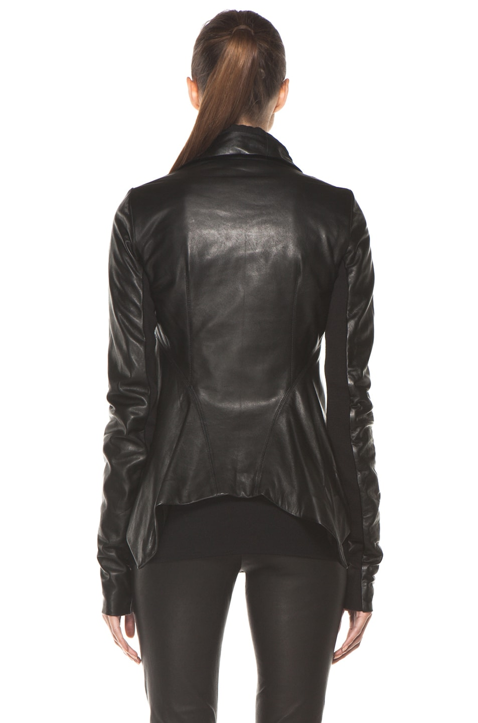 Image 5 of Rick Owens Naska Biker Jacket in Black