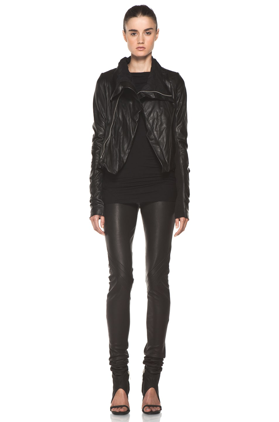 Image 6 of Rick Owens Naska Biker Jacket in Black
