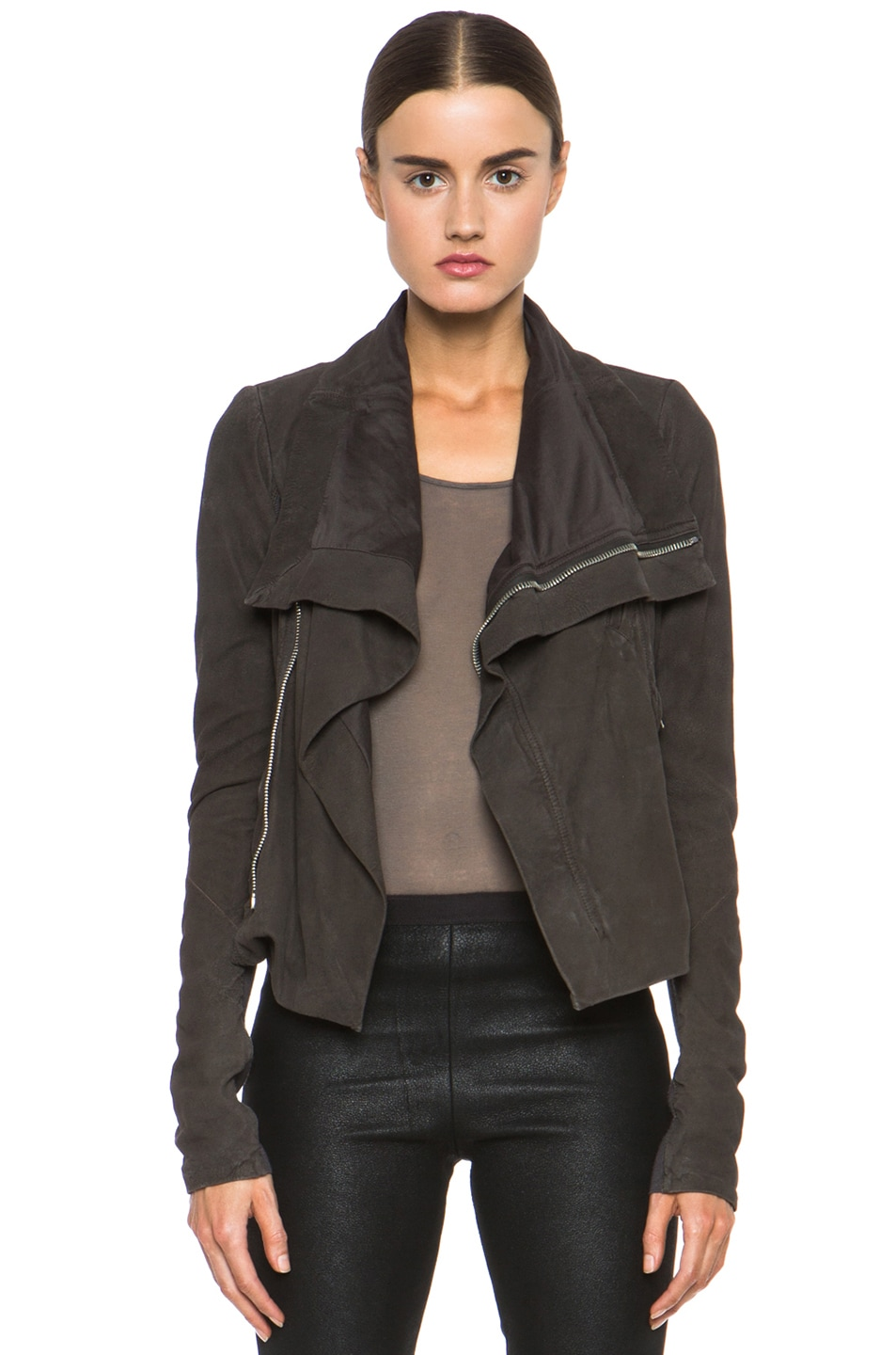 Image 1 of Rick Owens Classic Biker Jacket in Bitter